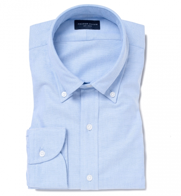 Thomas Mason Light Blue Oxford Button Down
