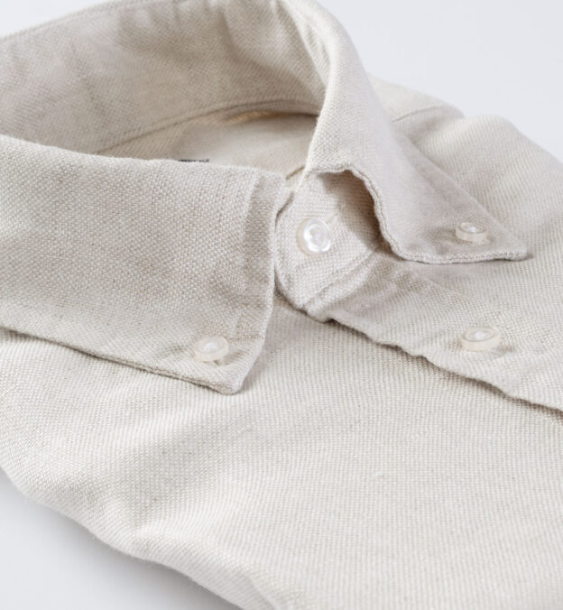Di Sondrio Natural Dye Basketweave Linen