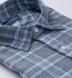 Satoyama Light Blue and Slate Plaid Flannel Shirt Thumbnail 2