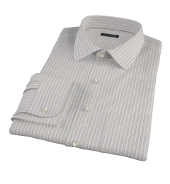 Japanese Lavender and Grey Stripe Men's Dress Shirt