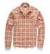 Ecru and Salmon Indian Madras Shirt Thumbnail 3