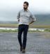 Japanese Grey Melange Pincord Shirt Thumbnail 2