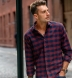 Teton Rust and Navy Gingham Flannel Shirt Thumbnail 3