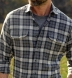 Canclini Charcoal and Red Plaid Beacon Flannel Shirt Thumbnail 4