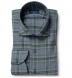 Satoyama Sage and Slate Blue Plaid Flannel Shirt Thumbnail 1