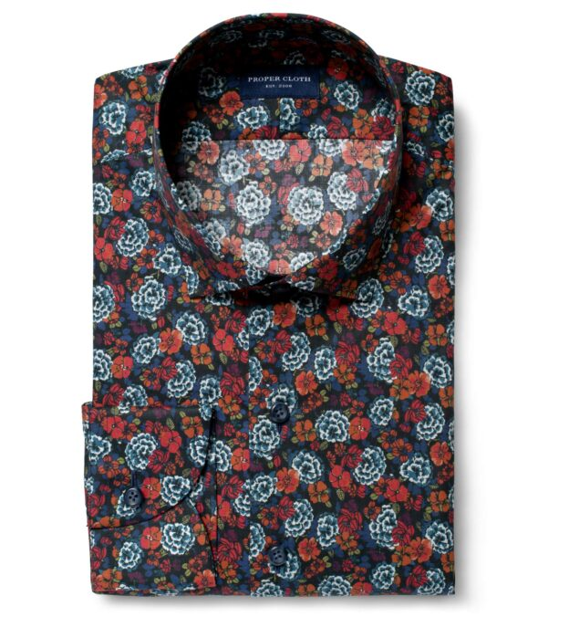 Albini Blue and Red Large Floral