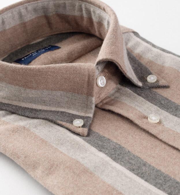 Canclini Camel Shadow Stripe Beacon Flannel