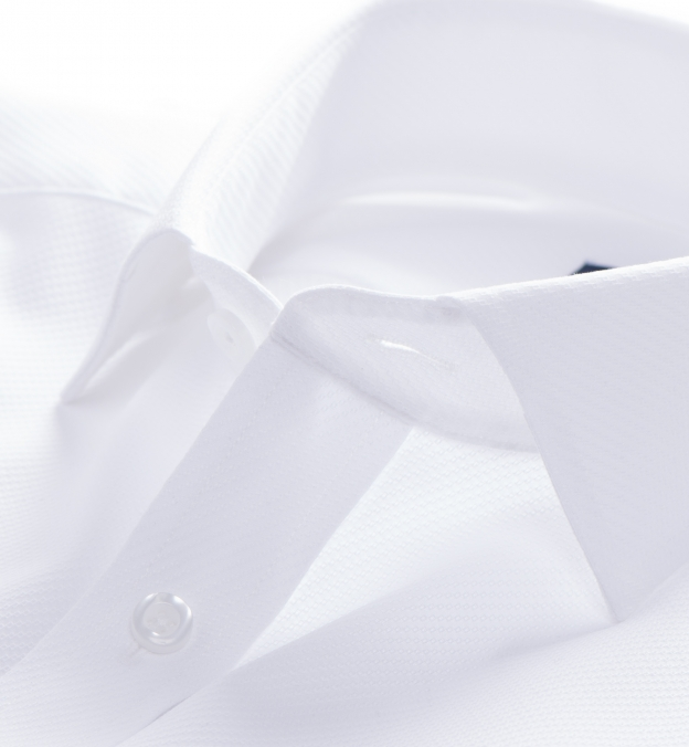 White Diagonal Jacquard