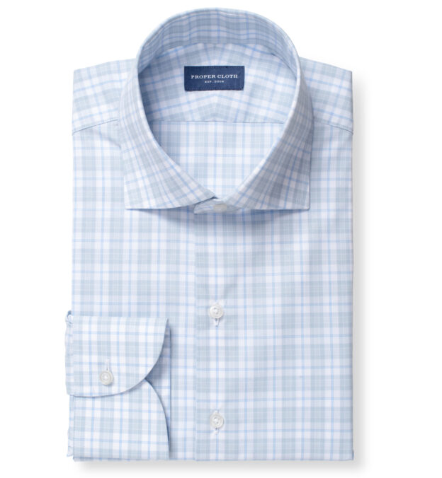 Varick Grey and Light Blue Multi Check