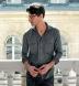 Canclini Grey Extra Large Herringbone Beacon Flannel Shirt Thumbnail 3