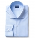 Morris Light Blue Wrinkle-Resistant Houndstooth Shirt Thumbnail 1