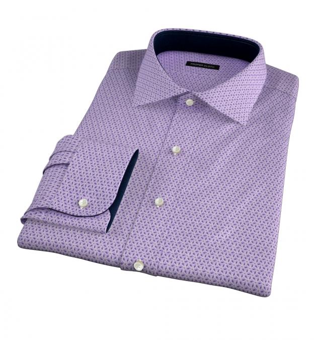 Granada Lavender Print Custom Dress Shirt