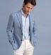 Amalfi Light Blue Tonal Stripe Pique Shirt Thumbnail 3