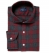 Canclini Scarlet and Grey Plaid Beacon Flannel Shirt Thumbnail 1