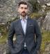 Thomas Mason Blue and Grey End-on-End Check Shirt Thumbnail 3