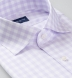 Non-Iron Supima Large Lavender Gingham Shirt Thumbnail 2