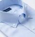 Non-Iron Supima Blue Pinpoint Button Down Shirt Thumbnail 2