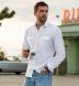 Thomas Mason White Cotton Linen Denim Shirt Thumbnail 3