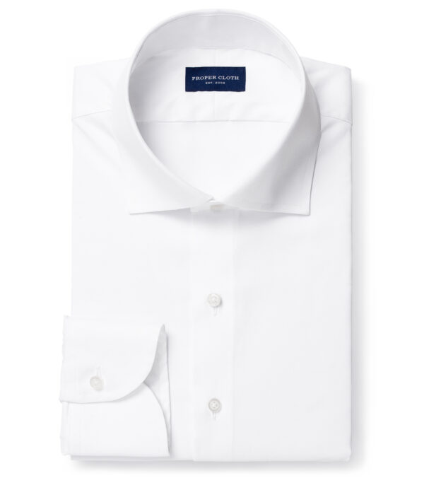 Wrinkle-Resistant Stretch White Twill