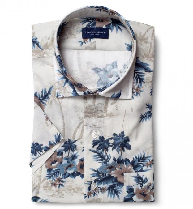 Albiate Faded Beige Aloha Shirt