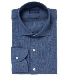 Japanese Slate Blue Chambray Men's Dress Shirt