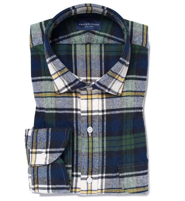 Green and Blue Plaid Country Flannel