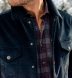Canclini Grey and Scarlet Ombre Plaid Beacon Flannel Shirt Thumbnail 4