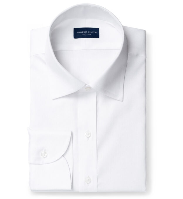 Weston White Pinpoint Fitted Dress Shirt