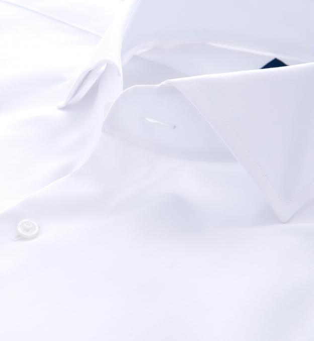 Greenwich White Twill Cutaway Collar