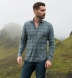 Satoyama Sage and Slate Blue Plaid Flannel Shirt Thumbnail 3