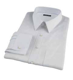 Mercer Light Blue Medium Grid Fitted Shirt