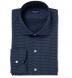 Albini Navy Mini Foulard Print Shirt Thumbnail 1