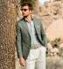 Thomas Mason Washed Sage Melange Cotton Linen Oxford Shirt Thumbnail 3