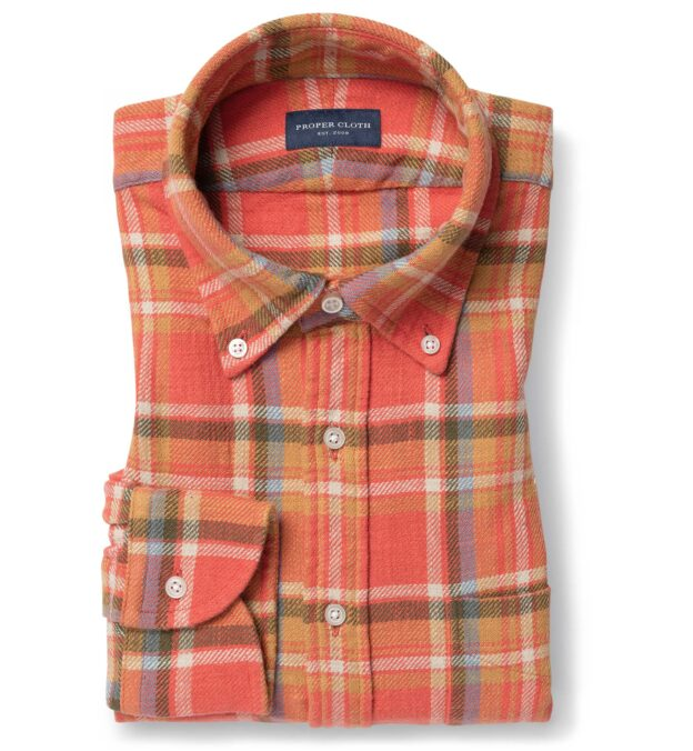 Japanese Washed Persimmon Country Plaid