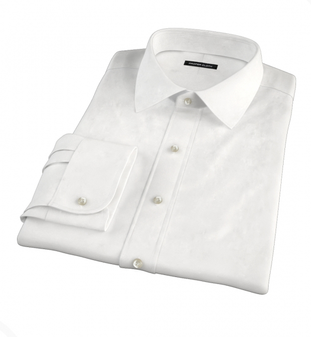 Canclini White Broadcloth Fitted Shirt