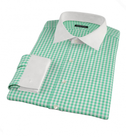 2de0894089a Canclini Light Green Gingham Men s Dress Shirt by Proper Cloth