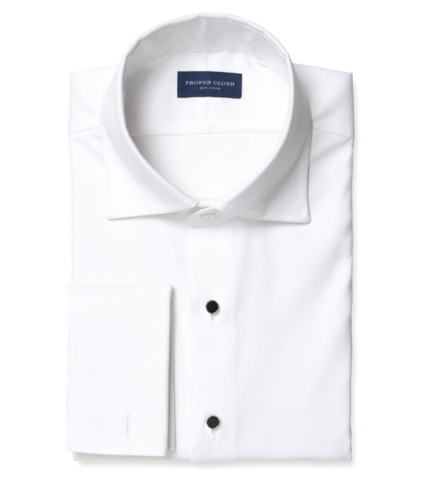 Mayfair WR White Stretch Pinpoint