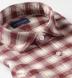 Thomas Mason Cranberry and Off White Plaid Flannel Shirt Thumbnail 3