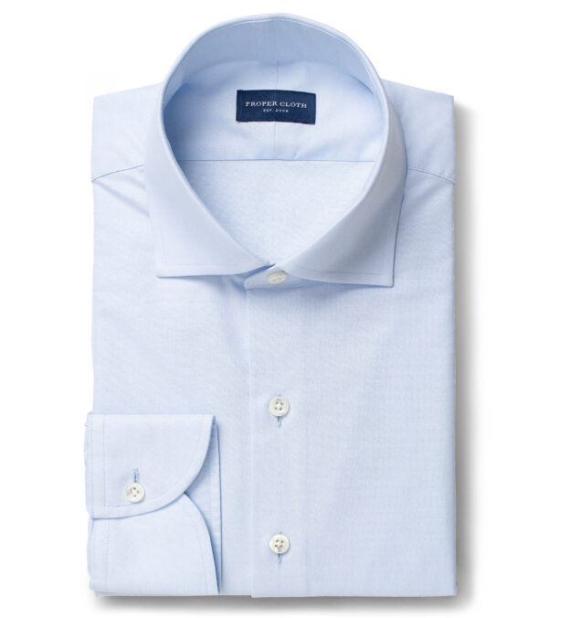 Thomas Mason Goldline Blue 3-Ply Oxford