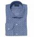Albini Washed Foulard Print Chambray Shirt Thumbnail 1