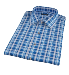 Blue and White Madras Short Sleeve Shirt