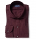 Canclini Burgundy Birdseye Beacon Flannel Shirt Thumbnail 1