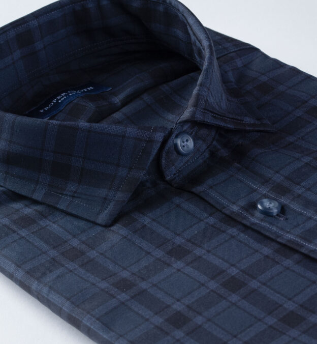 Reda Slate Plaid Merino Wool