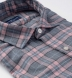 Satoyama Light Pink and Slate Plaid Flannel Shirt Thumbnail 2