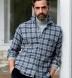 Canclini Slate Tonal Gingham Beacon Flannel Shirt Thumbnail 2