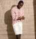 Portuguese Washed Sienna and White Plaid Linen Shirt Thumbnail 4