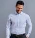 Thomas Mason Non-Iron Light Blue 100s Twill Shirt Thumbnail 3