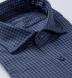 Albini Slate Blue Tonal Gingham Tencel Shirt Thumbnail 2