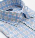 Sorrento Light Blue Yellow and Red Large Check Shirt Thumbnail 2