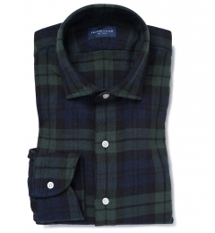 Japanese Washed Blackwatch Country Plaid Tailor Made Shirt